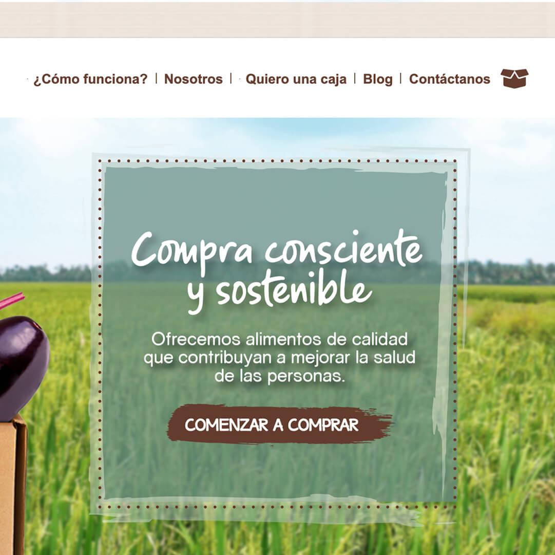 Tienda Online de Alimentos con Pasarela de pago - Kayu