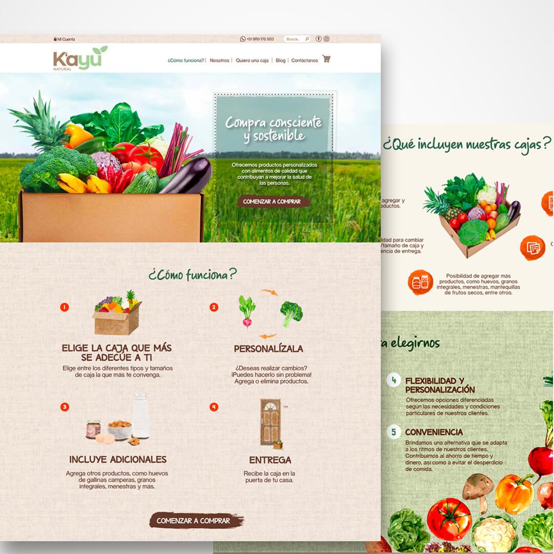 Diseño de Tienda Online - Kayu