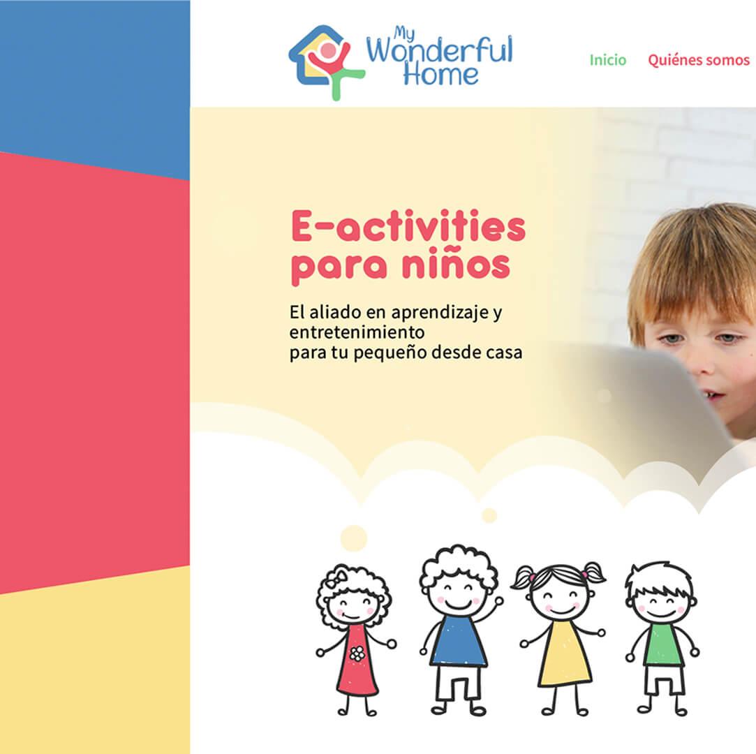 Plataforma E-Learning para niños - My Wonderful Home