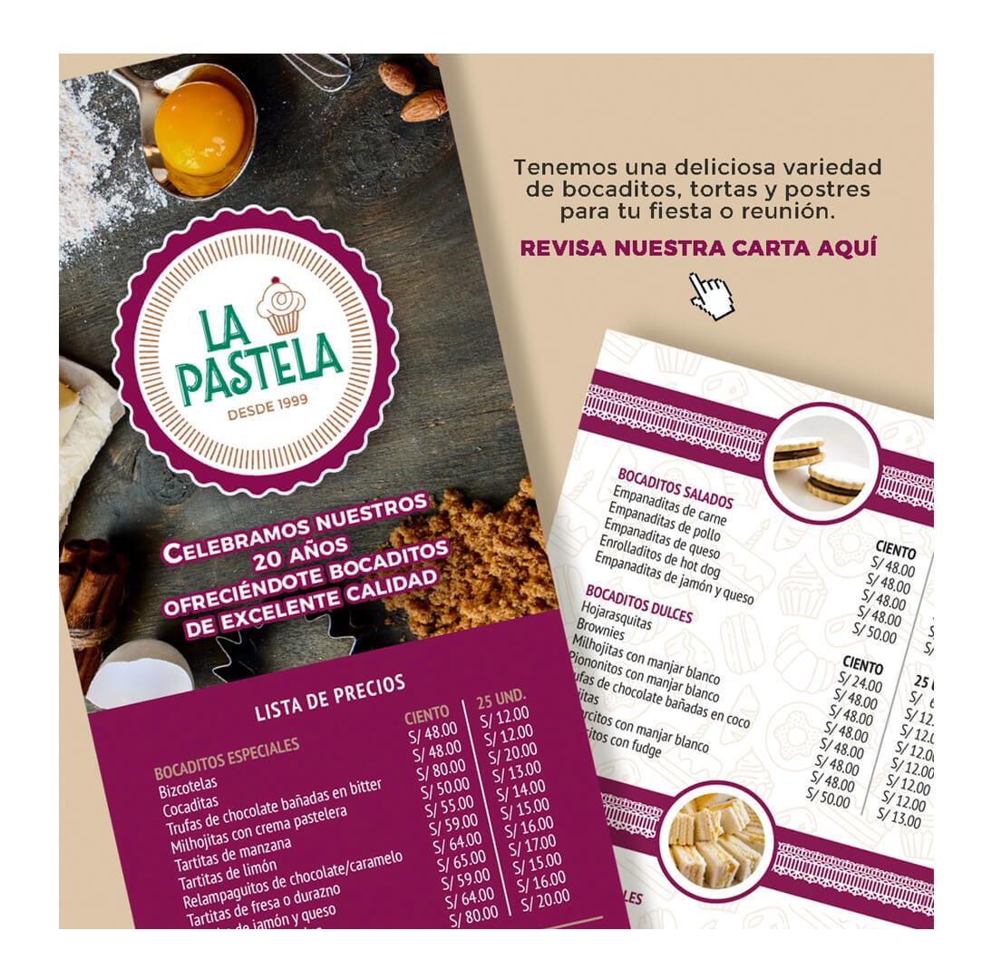 Diseño de Flyer Digital- La Pastela